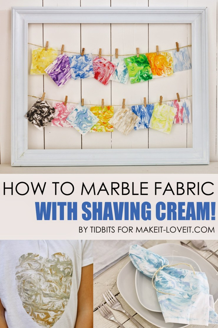 How to Marble Fabric wiith Shaving Cream (FUN!) with Make It Love It - Sewtorial
