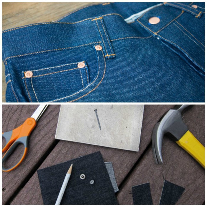 "Venturing into the world of denim? Learn to make an authentic looking pair of jeans with TaylorTailor's, ""How to Insert Jeans Rivets"" tutorial. -Sewtorial"