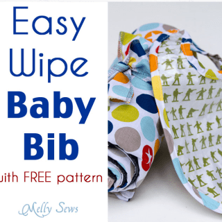 Easy Wipe Baby Bib