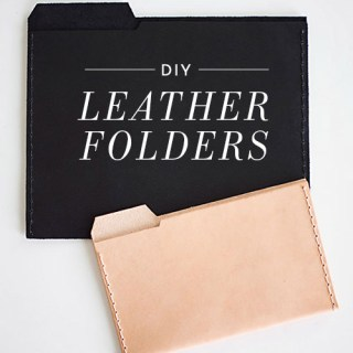 Personalize your office space with these chic DIY leather file folders by Design Sponge. (Love!) - Sewtorial