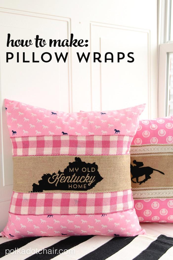 http://www.polkadotchair.com/2015/04/how-to-make-pillow-wraps-kentucky-derby-craft-ideas.html/
