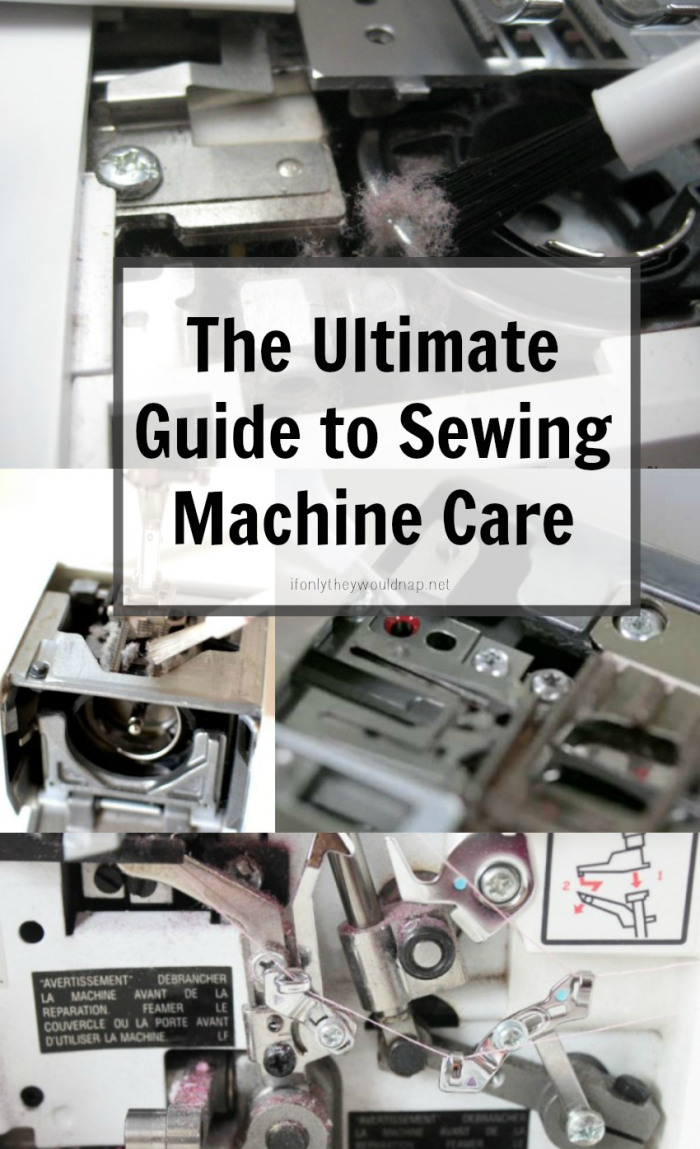 If Only They Would Nap shares a great Sewing Machine Guide with lots of great tips for keeping your creative pal in top condition. -Sewtorial