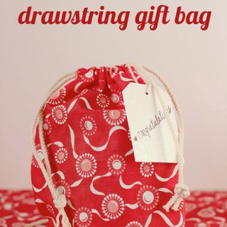 Drawstring Gift Bag Tutorial