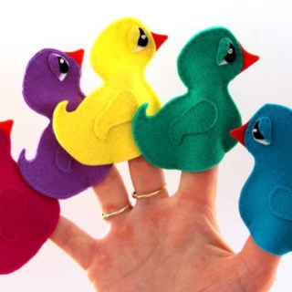 Duck Finger Puppet Pattern
