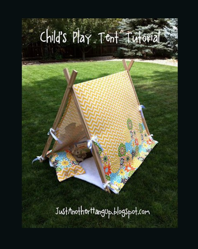This child tent tutorial by Just Another Hang Up is simple to create if you know your way around a drill and don't mind a little elbow grease. -Sewtorial