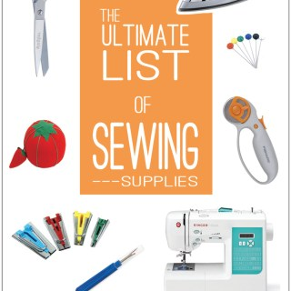 Ultimate Sewing Supply List