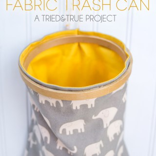 fabric trash can