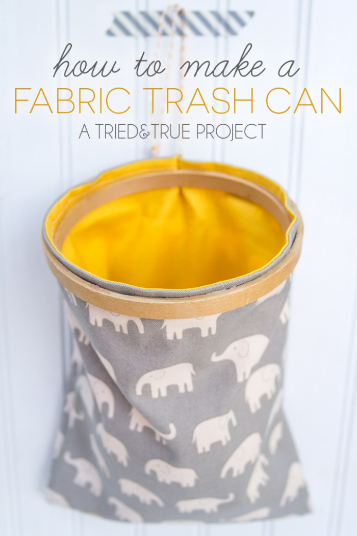 Here's a unique spin on keeping rooms tidy. Tried and True shows how to create a fabric trash can that will fit right in with your room's decor. - Sewtorial