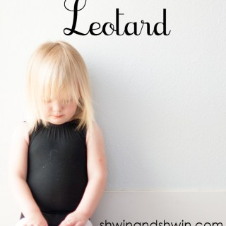 Do you have a little ballerina in your home? Shwin and Shwin shares a lovely easy to sew free leotard pattern for your little one (24 mos/2T). -Sewtorial