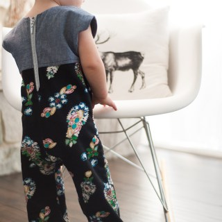 "The Penny Playsuit by Shwin and Shwin is not your average ""play"" suit. With a contrasting bodice and back zipper, fabric choices become your playground. -Sewtorial"