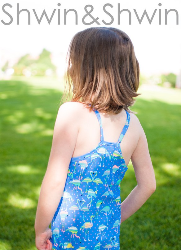Let your discerning fashionista design the perfect swimsuit with her favorite fabric and this free racerback pattern by Shwin and Shwin.- Sewtorial