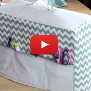 Debbie Shore shows how to make a sewing machine cover to keep your machine nice and clean. -Sewtorial