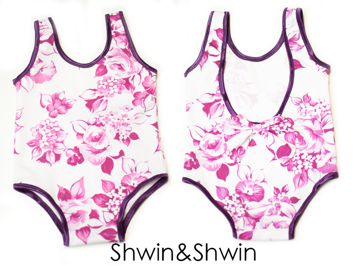 Shwin and Shwin shares a child swimsuit tutorial that includes a free pattern that can be used for a bathing suit or leotard. -Sewtorial