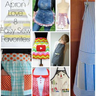 "From modern to farmhouse chic, here are 8 of our favorite ""Apron Love"" FREE patterns here on Sewtorial."
