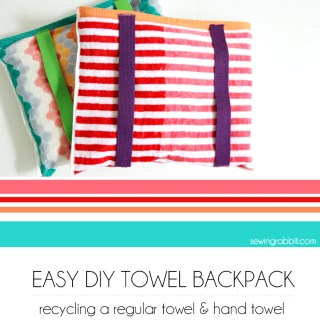DIY Beach Towel Backpack