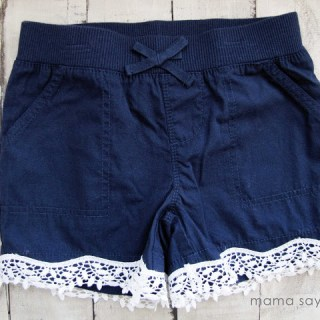 Add Lace to Shorts