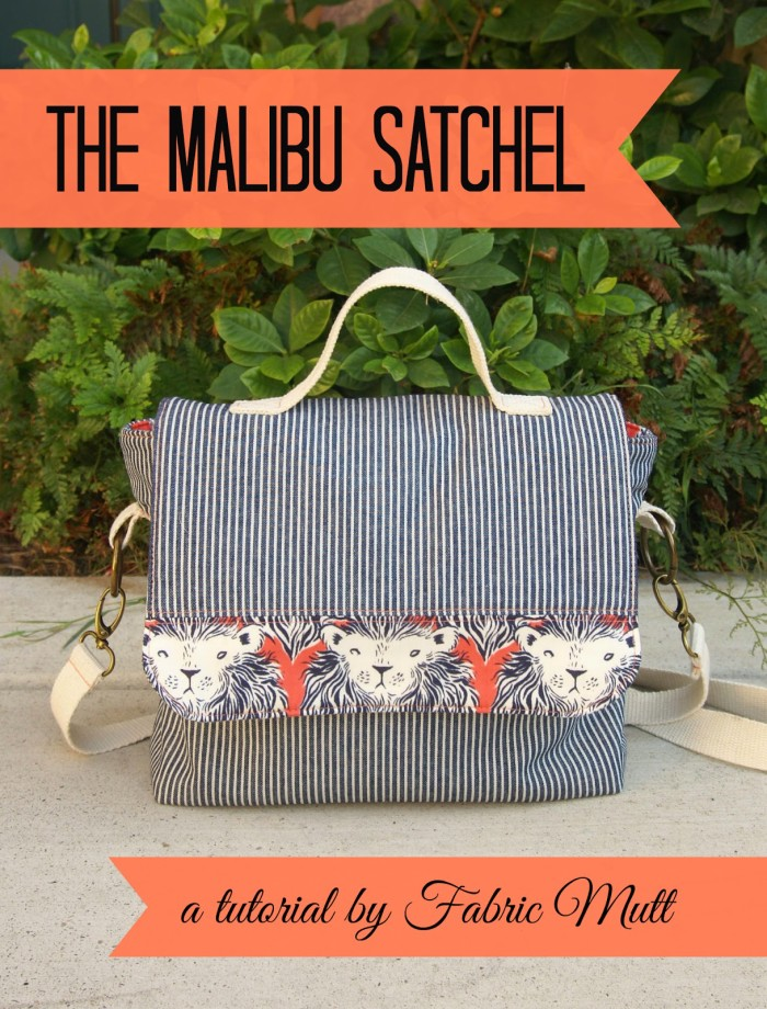 This multipurpose satchel can be used as a purse or switch up the fabric and you it as a portfolio. Fabric Mutt shares the free satchel tutorial. -Sewtorial