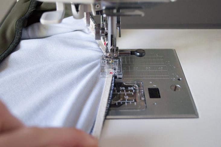 Swimsuit Elastic Tutorial SEWTORIAL Inspiration 4 Needle Elastic Sewing Machine