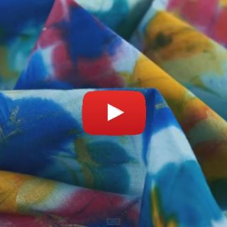 Create Marbled Designs on Fabric