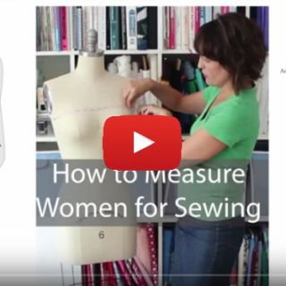 In this video tutorial Melissa from Melly Sews gives a step-by-step video tutorial on how to measure women for sewing. -Sewtorial