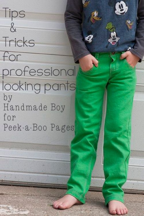 In this tutorial, Peekaboo Patterns shares a great tutorial on how to get a professional finish when sewing pants. -Sewtorial
