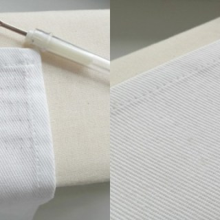 Do you ever get seam ripper happy? No worries, it happens to the best of us. Makery shows you how to remove stitch marks from fabric easily. -Sewtorial