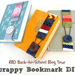 "Creating something practical AND using up your scrap pile is definitely a ""win-win"". Try this cute Scrappy Bookmark DIY by Riley Blake Designs. -Sewtorial"