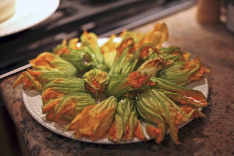 Stuffed Fried Zucchini Blossoms