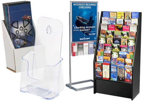 Brochure Holders   Literature Racks   Flyer Stands Brochure Holders