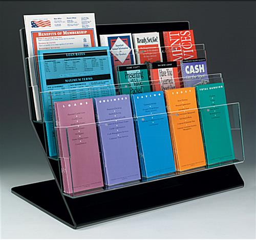 Acrylic Literature Rack   Holds Brochures  Magazines or Both acrylic literature rack