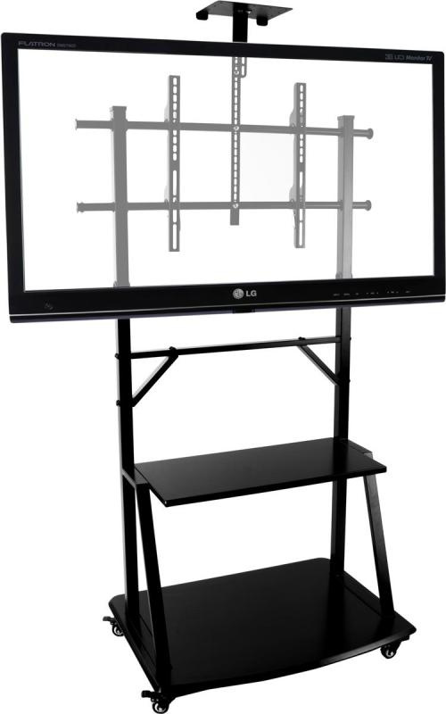 Calm Flat Panel Display Tv Stand Wheels Boardroom Tv Stand Lcd Mounting Cart Flat Screens Wheels Qatar Tv Stand