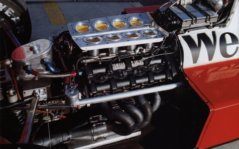 The Yamaha motor is ready to rumble in the back of the Zakspeed.