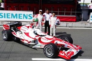 New car, new driver; Sakon Yamamoto joins the team to show off the new SA06 at Hockenheim.