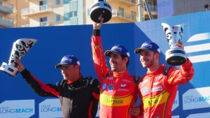 After losing his Mexico ePrix win, di Grassi was understandably muted in his Long Beach victory celebrations. (FIA Formula E)