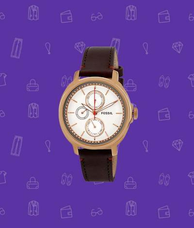 Fossil Silver Dial Women's Watch
