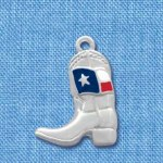 Cowboy Boot with Enameled Texas Flag