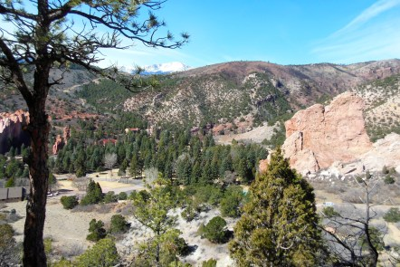 This is a view of Glen Eyrie and how close the fire came to destroying this property too.