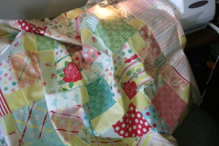 Charm Pack Baby Girl Quilt