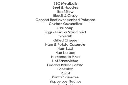 family favorites menu @ graceelizabeths.com