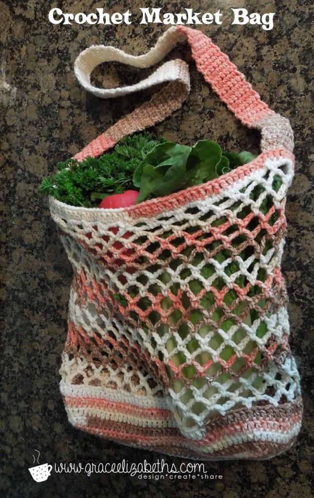 Crochet Market Bag by #GraceElizabeths