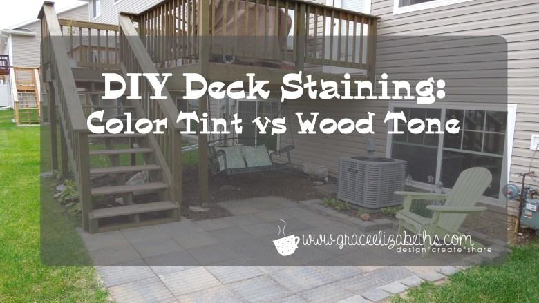 DIY Deck Staining