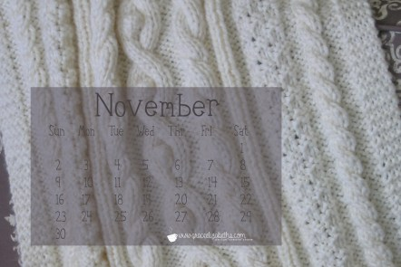 November Desktop Calendar Download