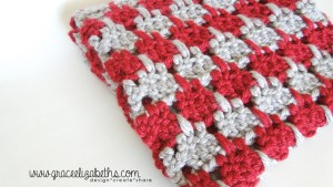 Crochet Houndstooth Baby Blanket in a Weekend. Pattern by Grace Elizabeth's.