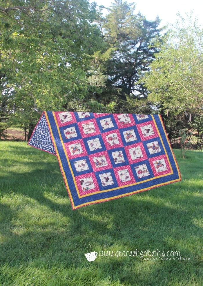 cowboy quilt by www.GraceElizabeths.com