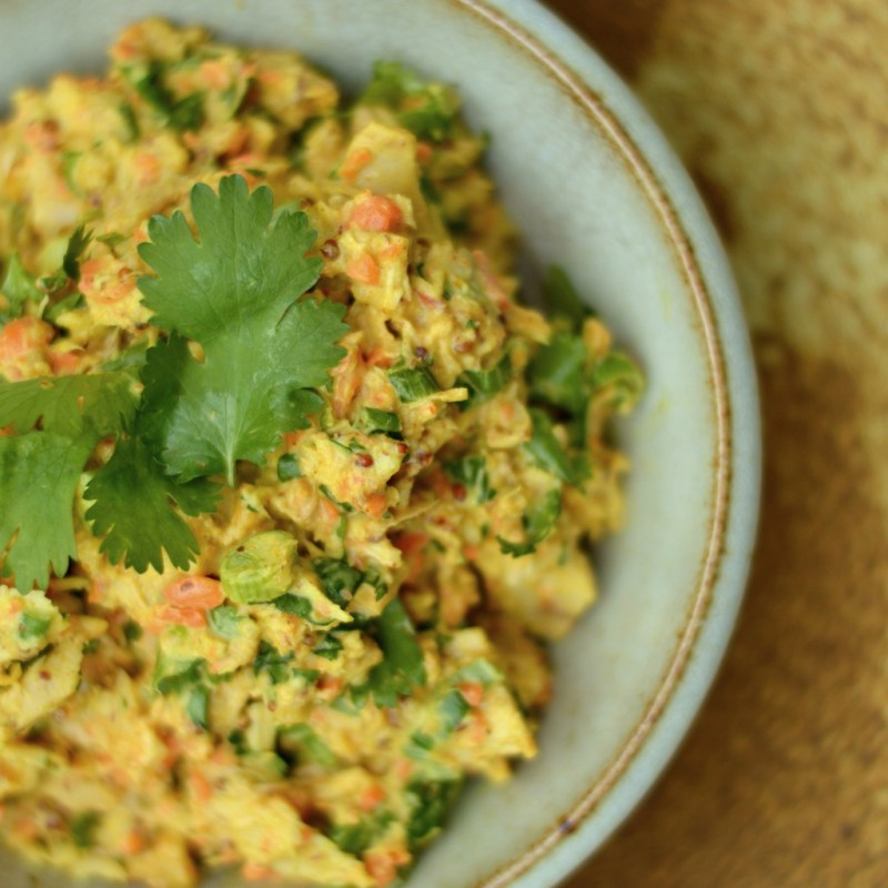 Zesty Curried Tuna Salad (Paleo) -- GracefullyPrimal.com
