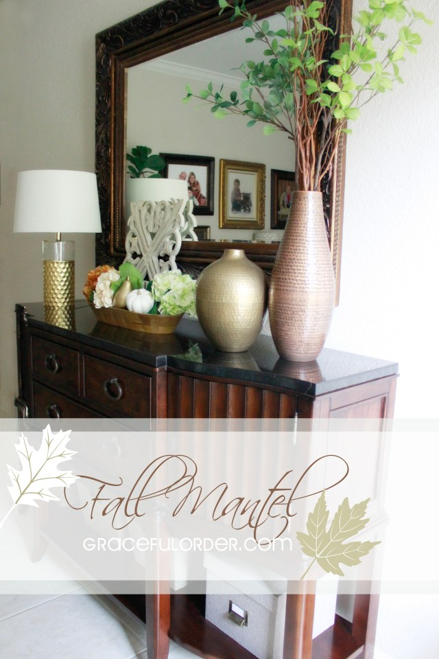 Decorating a Fall Mantel