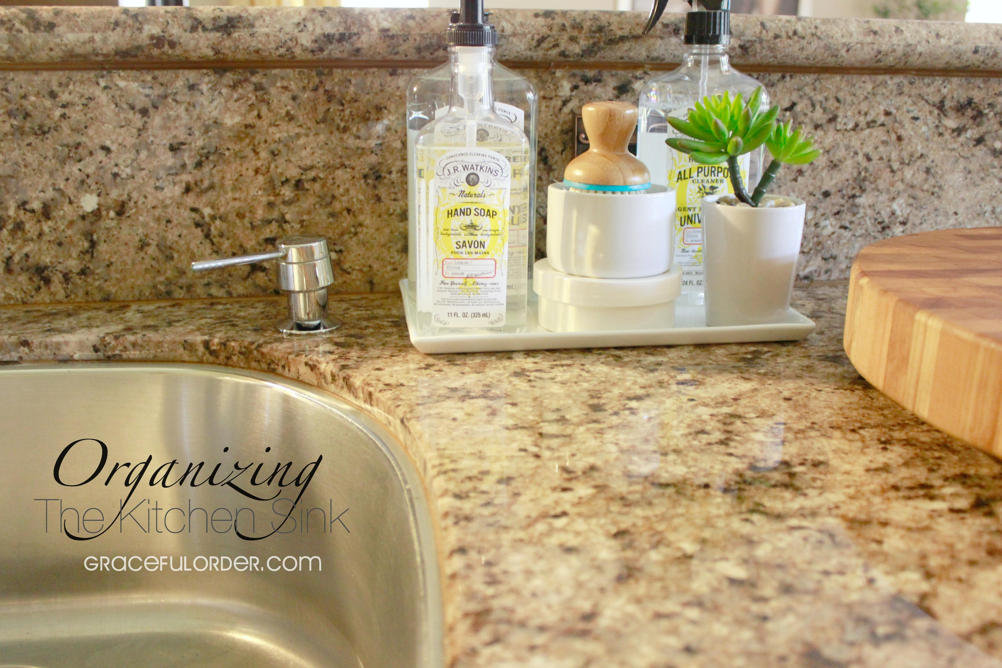 Organizing the Kitchen Sink Area Graceful Order