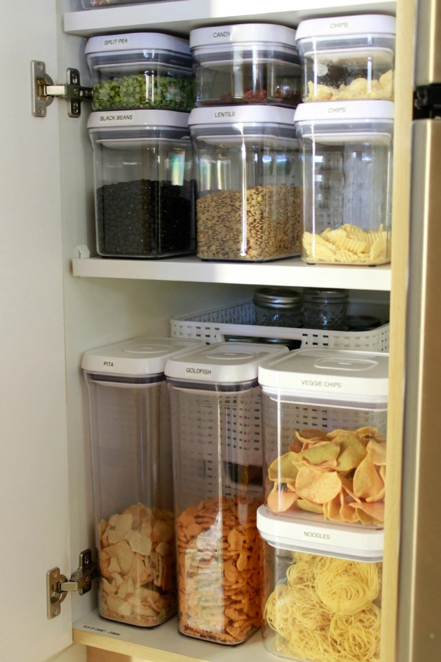 Organizing a Deep Pantry Cabinet