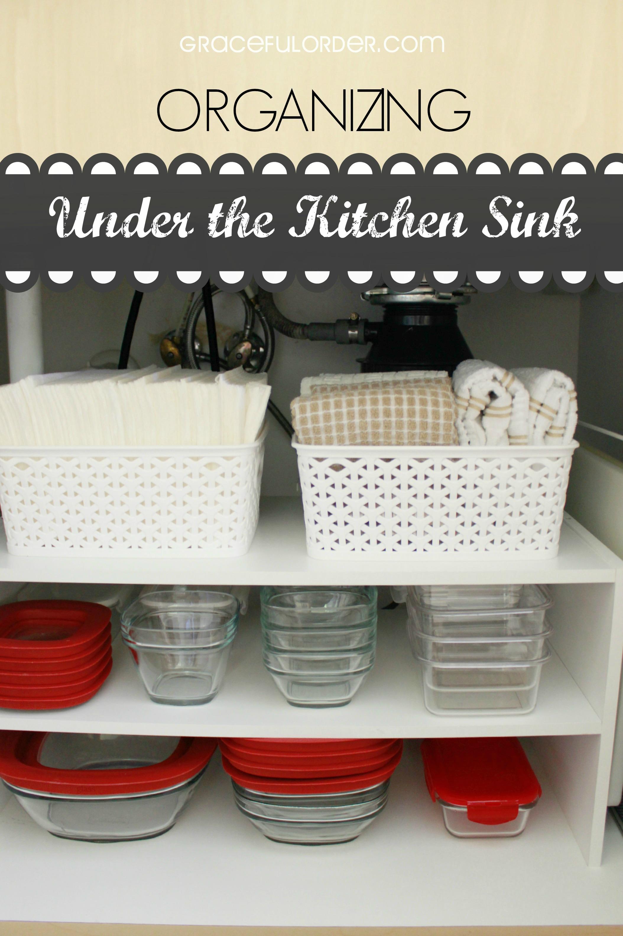 Organize Under Your Kitchen Sink - Graceful Order