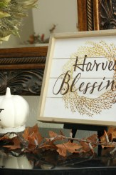 Fall Buffet Decorating